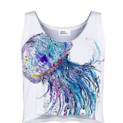 Colour Pleasure Koszulka damska CP-035 59 biało-niebieska r. XS-S. T-shirty damskie Colour Pleasure. Za 64.14 zł.