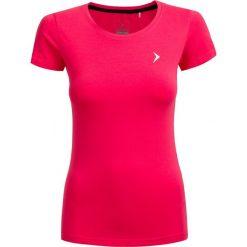 T-shirt damski  TSD600 - różowy - Outhorn. Czerwone t-shirty damskie Outhorn, z bawełny. W wyprzedaży za 24.99 zł.