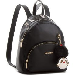 Plecak LOVE MOSCHINO - JC4072PP16LK0000  Nero. Czarne plecaki damskie Love Moschino, ze skóry ekologicznej, eleganckie. Za 959.00 zł.