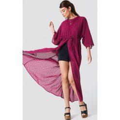NA-KD Boho Sukienka-płaszcz z szyfonu - Purple. Fioletowe płaszcze damskie NA-KD Boho, z szyfonu, boho. Za 161.95 zł.