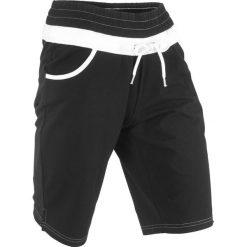 Szorty dresowe bonprix czarny. Czarne spodnie dresowe damskie bonprix, z dresówki. Za 44.99 zł.