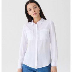 Koszula z kieszeniami - Biały. Białe koszule damskie House. Za 59.99 zł.