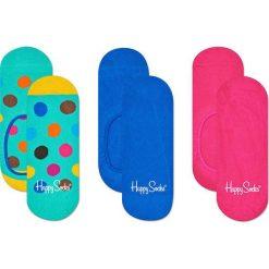 Happy Socks - Stopki Big Dot (3-pak). Niebieskie skarpety damskie Happy Socks, z bawełny. Za 69.90 zł.