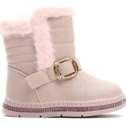 Beżowe Śniegowce Habituate. Brązowe buty zimowe dziewczęce Born2be, z materiału. Za 59.99 zł.
