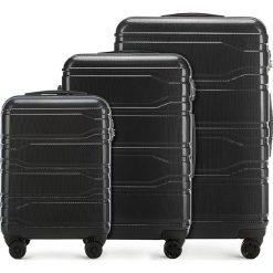 Zestaw walizek 56-3P-98S-10. Czarne walizki damskie Wittchen, z gumy. Za 778.41 zł.