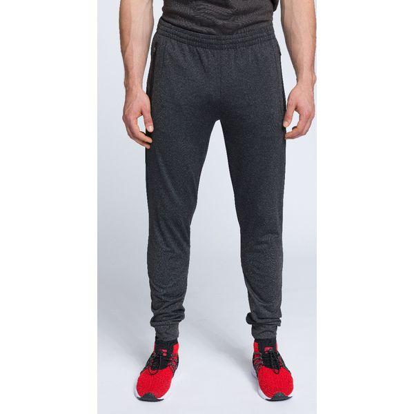 3fd05dd33 Spodnie treningowe męskie SPMTR002 - ciemny szary melanż - Spodnie ...