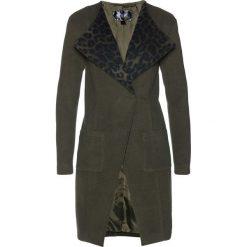 Płaszcz bonprix zielono-szary. Szare płaszcze damskie bonprix. Za 219.99 zł.