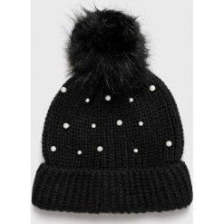 Vero Moda - Czapka. Czarne czapki i kapelusze damskie Vero Moda, z dzianiny. Za 59.90 zł.