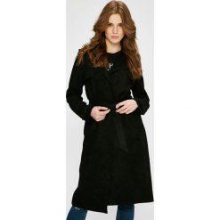 Answear - Płaszcz Wild Nature. Czarne płaszcze damskie ANSWEAR, w paski, z dzianiny, klasyczne. W wyprzedaży za 149.90 zł.