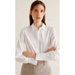 Mango - Koszula Santi2. Szare koszule damskie Mango, z bawełny, klasyczne, z klasycznym kołnierzykiem, z długim rękawem. Za 89.90 zł.