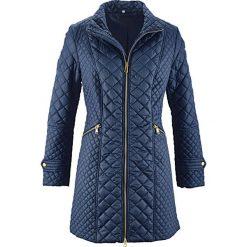 Płaszcz pikowany bonprix ciemnoniebieski. Płaszcze damskie marki FOUGANZA. Za 149.99 zł.