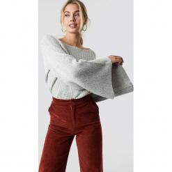 NA-KD Sweter z dużym rękawem - Grey. Szare swetry damskie NA-KD, z dzianiny. Za 141.95 zł.