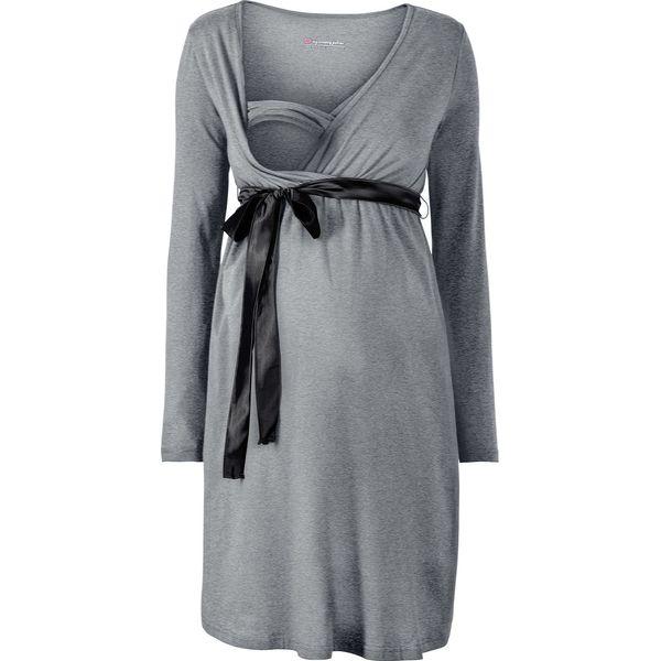 368619c915 Sukienka ciążowa i do karmienia bonprix szary melanż - Sukienki ...
