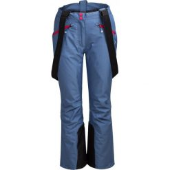 Spodnie narciarskie damskie SPDN602 - niebieski melanż - Outhorn. Niebieskie spodnie materiałowe damskie Outhorn, melanż. Za 229.99 zł.