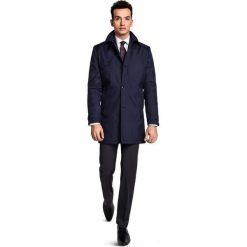 Płaszcz PIETRO PSGR000001. Czarne płaszcze męskie Giacomo Conti, na lato, z aplikacjami. Za 599.00 zł.