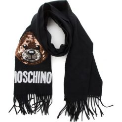 Szal MOSCHINO - 30576 M1876 016. Szare szaliki i chusty damskie marki Giacomo Conti, na zimę, z tkaniny. W wyprzedaży za 459.00 zł.