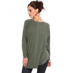 """Sweter """"Fiona"""" w kolorze khaki. Brązowe swetry damskie Cosy Winter, ze splotem, z okrągłym kołnierzem. W wyprzedaży za 181.95 zł."""