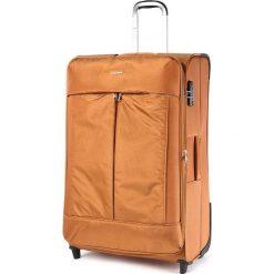 Duża Materiałowa Walizka PUCCINI - EM 50370 A  Orange 9. Brązowe walizki damskie Puccini, z materiału. W wyprzedaży za 249.00 zł.