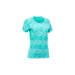 Koszulka turystyczna z krótkim rękawem MH500 damska. Niebieskie t-shirty damskie QUECHUA, z elastanu. Za 29.99 zł.