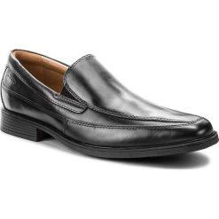 Półbuty CLARKS - Tilden Free 261103127 Black Leather. Czarne eleganckie półbuty Clarks, z materiału. W wyprzedaży za 219.00 zł.