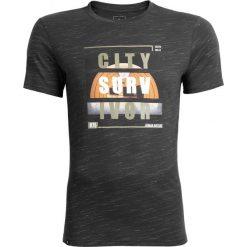 T-shirt męski TSM611 - głęboka czerń  melanż - Outhorn. Czarne t-shirty męskie Outhorn, melanż, z bawełny. Za 39.99 zł.
