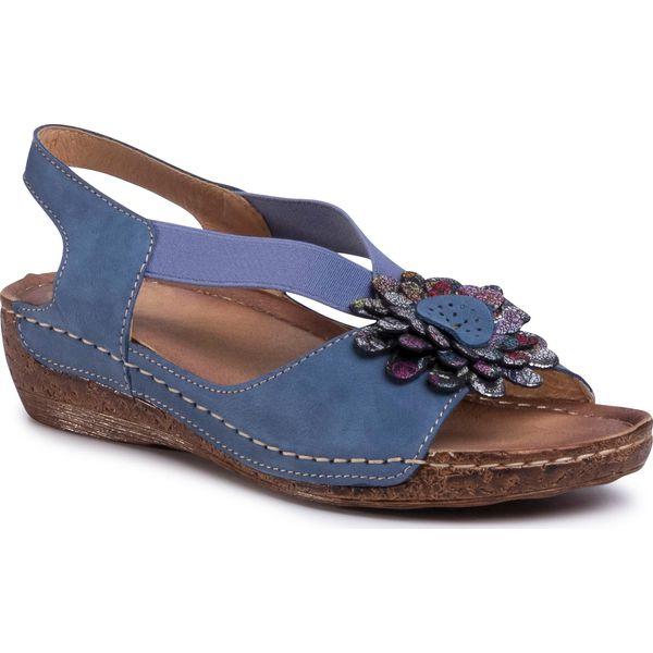 Sandały WALDI Niebieski Klapki i sandały Damskie Obuwie 0713