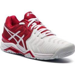 Buty ASICS - Gel-Resolution Novak E805N Classic Red/White/Silver 2301. Białe buty sportowe męskie Asics, z materiału. W wyprzedaży za 419.00 zł.