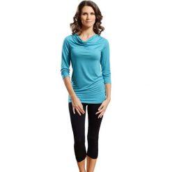 Piżama w kolorze niebiesko-czarnym - koszulka, legginsy. Czarne piżamy damskie Doctor Nap. W wyprzedaży za 72.95 zł.
