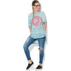 Colour Pleasure Koszulka CP-033  69 błękitna r. uniwersalny. Bluzki damskie marki Colour Pleasure. Za 76.57 zł.