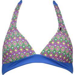 """Biustonosz bikini """"Stintino"""" w kolorze niebieskim ze wzorem. Biustonosze Brunotti. W wyprzedaży za 74.95 zł."""