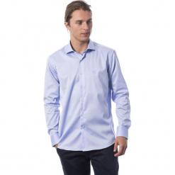 Koszula w kolorze błękitnym. Niebieskie koszule męskie Roberto Cavalli, Trussardi, z klasycznym kołnierzykiem. W wyprzedaży za 339.95 zł.
