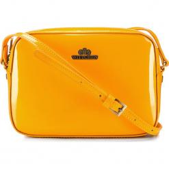Torebka damska 25-4-589-Y. Żółte torebki do ręki damskie Wittchen, w paski, z lakierowanej skóry. Za 459.00 zł.