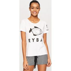 Piżama z szortami - Biały. Białe piżamy męskie Reserved. Za 59.99 zł.