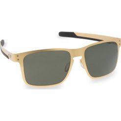 Okulary przeciwsłoneczne OAKLEY - Holbrook Metal OO4123-0855 Stn Gold/Dk Grey. Żółte okulary przeciwsłoneczne męskie Oakley, z tworzywa sztucznego. W wyprzedaży za 549.00 zł.
