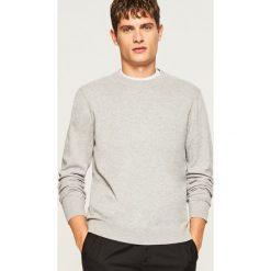 Gładki sweter - Jasny szar. Swetry przez głowę męskie marki Giacomo Conti. Za 99.99 zł.