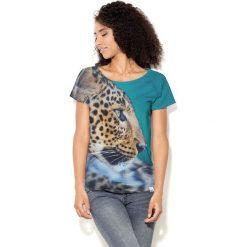 Colour Pleasure Koszulka CP-034 132 turkusowa r. XXXL/XXXXL. Bluzki damskie marki Colour Pleasure. Za 70.35 zł.