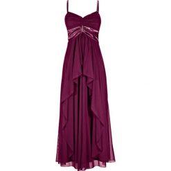 Długa sukienka bonprix jeżynowy. Sukienki damskie marki MAKE ME BIO. Za 189.99 zł.