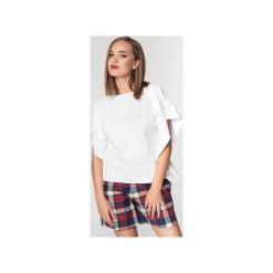 Bluzka biała. Białe bluzki damskie Sovl, z bawełny, z dekoltem w łódkę. Za 119.00 zł.