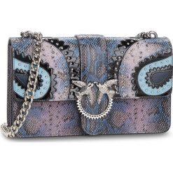 Torebka PINKO - Love Exotics Tracolla AI 18-19 PLTT 1P217N Y511 Light Blue E82. Niebieskie torebki do ręki damskie Pinko, ze skóry. Za 1,599.00 zł.