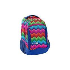 Plecak Szkolny Lekki Paso Tęcza Rainbow. Szare torby i plecaki dziecięce PASO, z materiału. Za 89.00 zł.