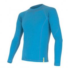 Sensor Koszulka Termoatywna Z Długim Rękawem Merino Df M Blue L. Niebieskie koszulki sportowe męskie Sensor, z materiału, z długim rękawem. Za 215.00 zł.