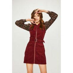 Answear - Sukienka. Szare sukienki damskie ANSWEAR, w paski, z bawełny, casualowe. Za 169.90 zł.