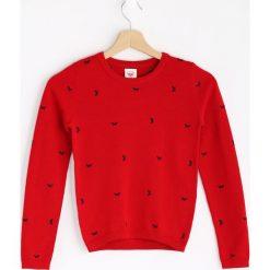 Czerwony Sweter Fancy Girl. Swetry dla dziewczynek marki bonprix. Za 49.99 zł.