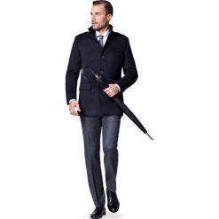 Kurtka Granatowa Cypriano. Czarne kurtki męskie LANCERTO, na zimę, z syntetyku, eleganckie. W wyprzedaży za 349.90 zł.