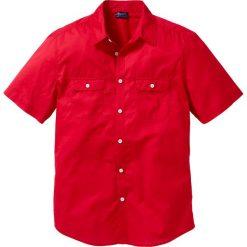 Koszula z krótkim rękawem bonprix czerwony. Koszule męskie marki Giacomo Conti. Za 54.99 zł.