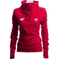 Bluza funkcyjna damska Polska Pyeongchang 2018 TSDLF901 - czerwony wiśniowy. Czerwone bluzy damskie 4f, na zimę, z napisami, z dzianiny. Za 149.99 zł.