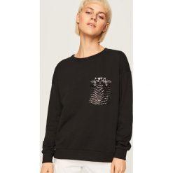 Bluza z nadrukiem - Czarny. Bluzy damskie marki Reserved. W wyprzedaży za 24.99 zł.