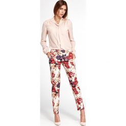 ffa22f42dd Klasyczne spodnie w kwiaty sd33. Spodnie materiałowe damskie marki Nife. W  wyprzedaży za 89.00