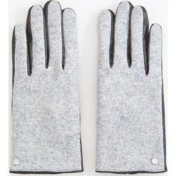 Rękawiczki z wełną - Jasny szar. Szare rękawiczki damskie Reserved, z wełny. Za 49.99 zł.