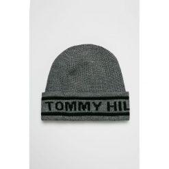 Tommy Hilfiger - Czapka. Szare czapki i kapelusze męskie Tommy Hilfiger. Za 159.90 zł.